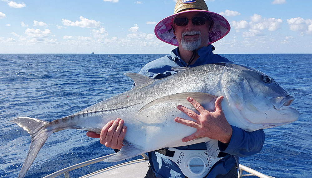 Giant Trevally catch and release at 122cm