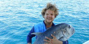 sport fishing for giant trevally