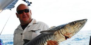 spanish mackerel caught on the southern great barrier reef